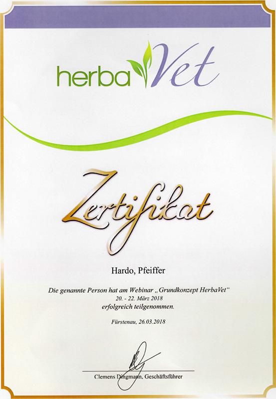 Tierheilpraxis Hardo Pfeiffer - Webinar Grundkonzept HerbaVet