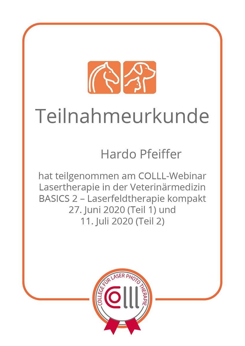 Tierheilpraxis Hardo Pfeiffer-Webinar Lasertherapie BASIC 2